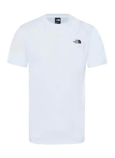 The North Face Train N Logo Hybrid Erkek T-Shirt Beyaz Renkli